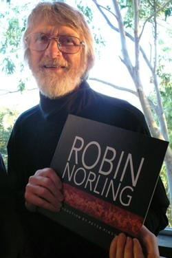 The artist with his self-titled book, 2010